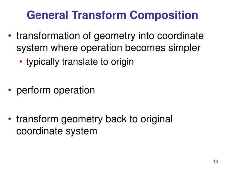 General Transform Composition