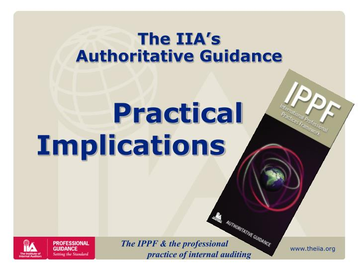 The iia s authoritative guidance