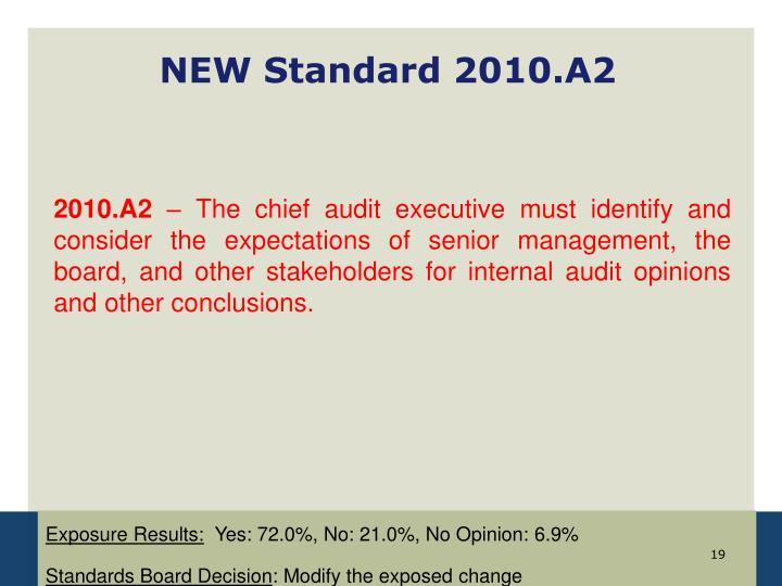 NEW Standard 2010.A2