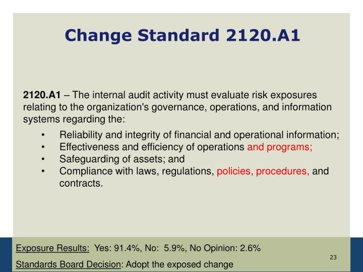 Change Standard 2120.A1