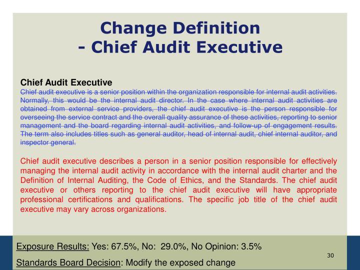 Change Definition