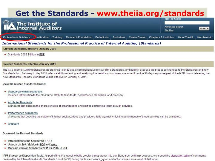 Get the Standards -