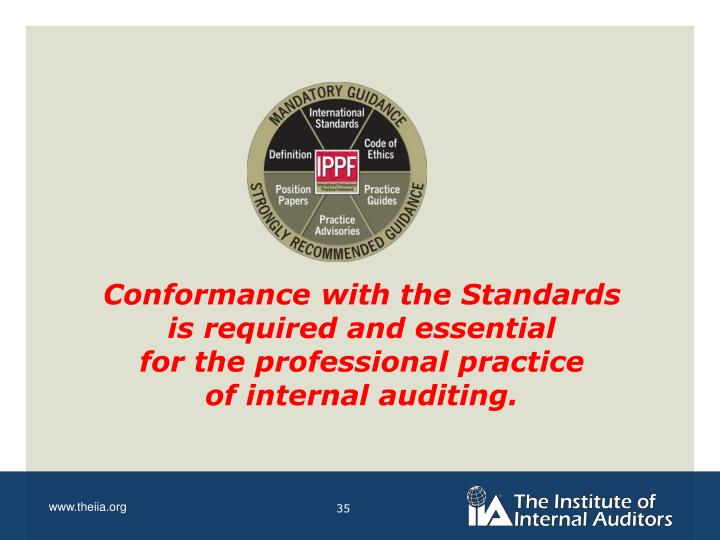 Conformance with the Standards