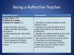 being a reflective teacher