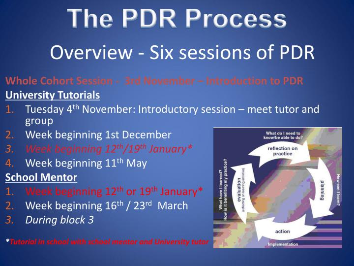 The PDR Process