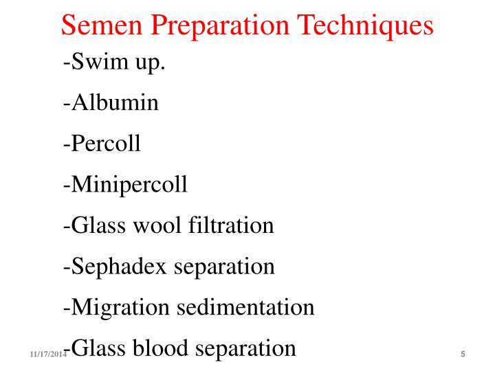 Semen Preparation Techniques