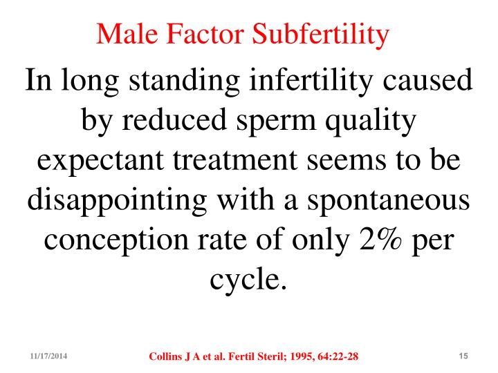 Male Factor Subfertility