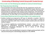 constructing of matching control group with treated groups