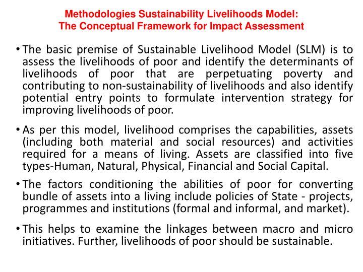Methodologies Sustainability Livelihoods Model:
