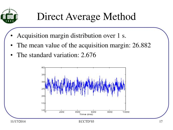 Direct Average Method