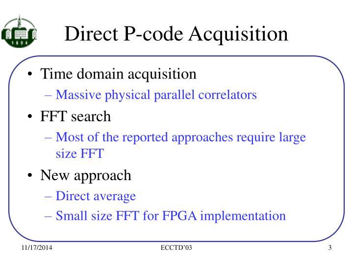 Direct P-code Acquisition
