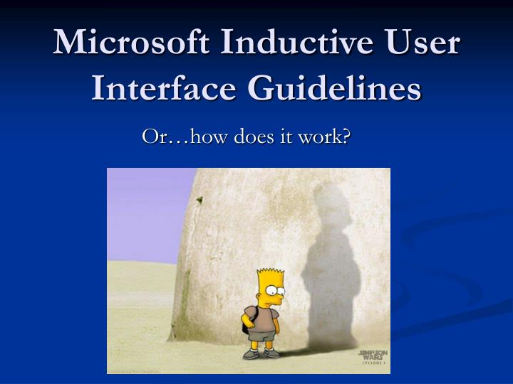 Microsoft Inductive User Interface Guidelines