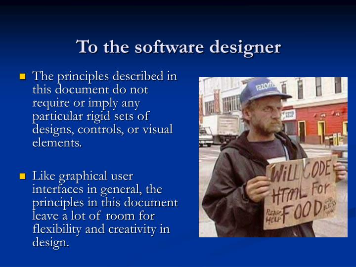 To the software designer
