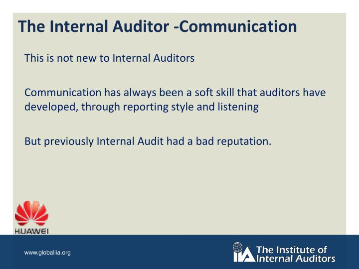 The Internal Auditor -Communication