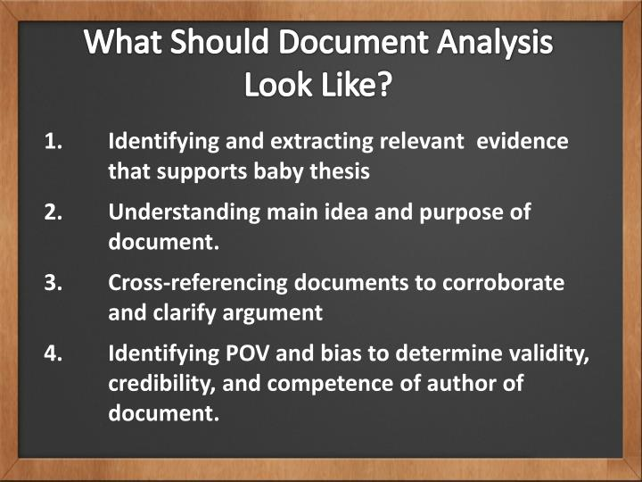 What Should Document Analysis