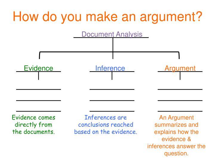 How do you make an argument?