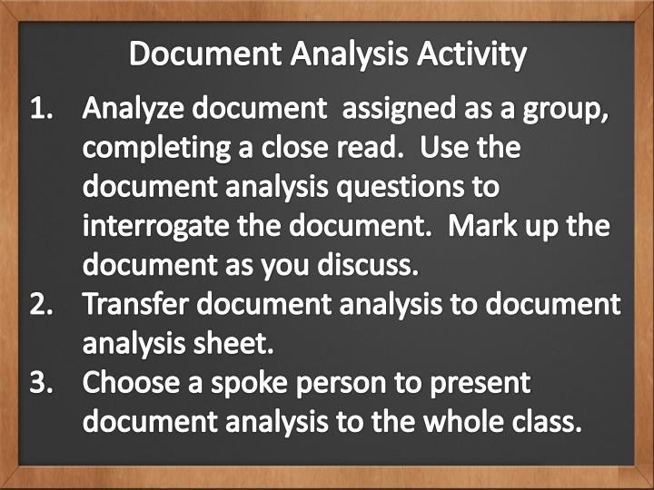 Document Analysis Activity