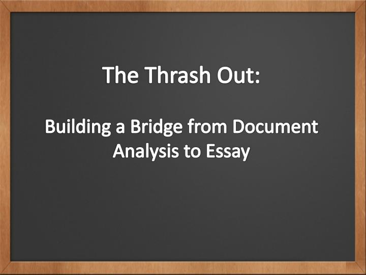 The Thrash Out: