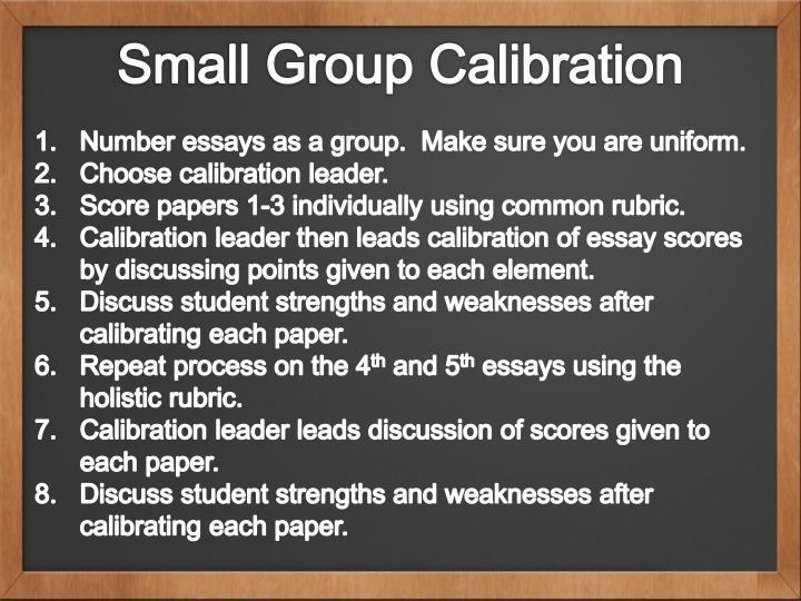Small Group Calibration