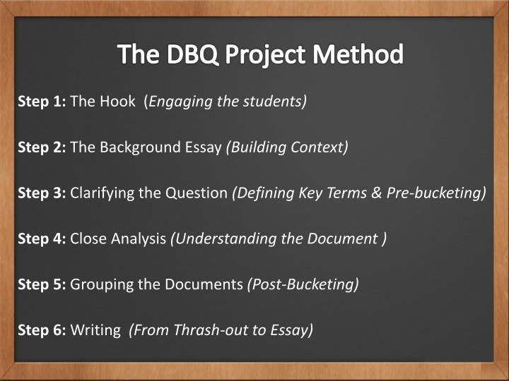 The DBQ Project Method