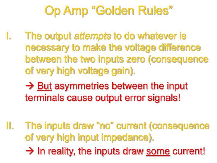 "Op Amp ""Golden Rules"""