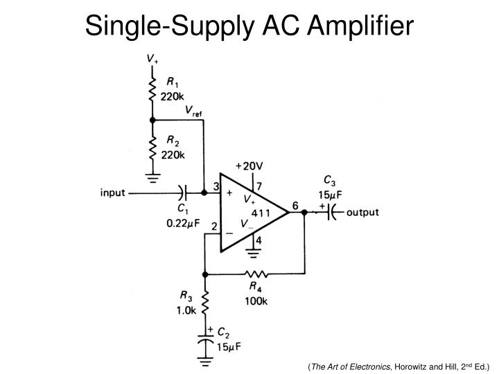 Single-Supply AC Amplifier
