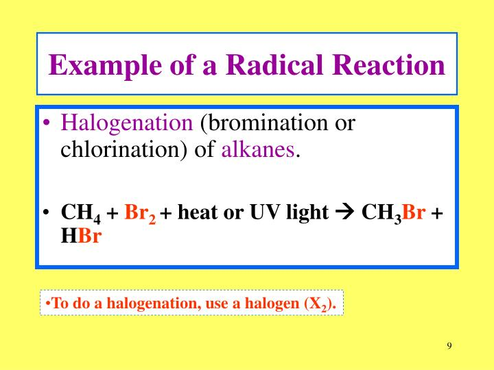 Example of a Radical Reaction