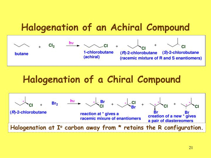 Halogenation of an Achiral Compound