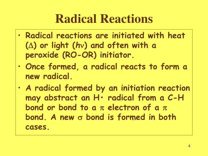 Radical Reactions