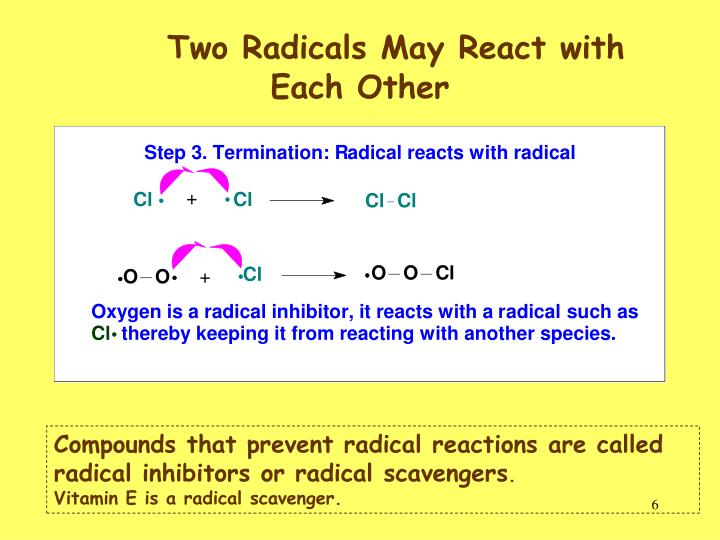 Two Radicals May React with Each Other