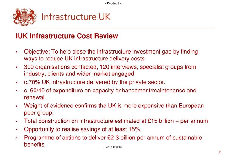 Iuk infrastructure cost review