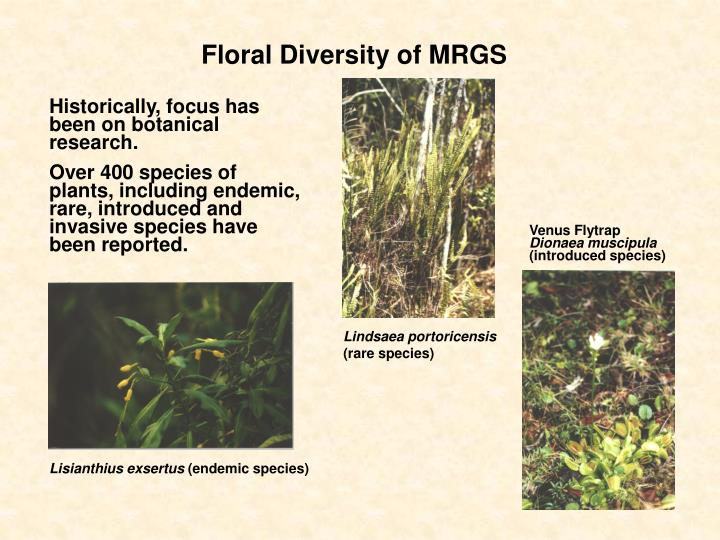 Floral Diversity of MRGS