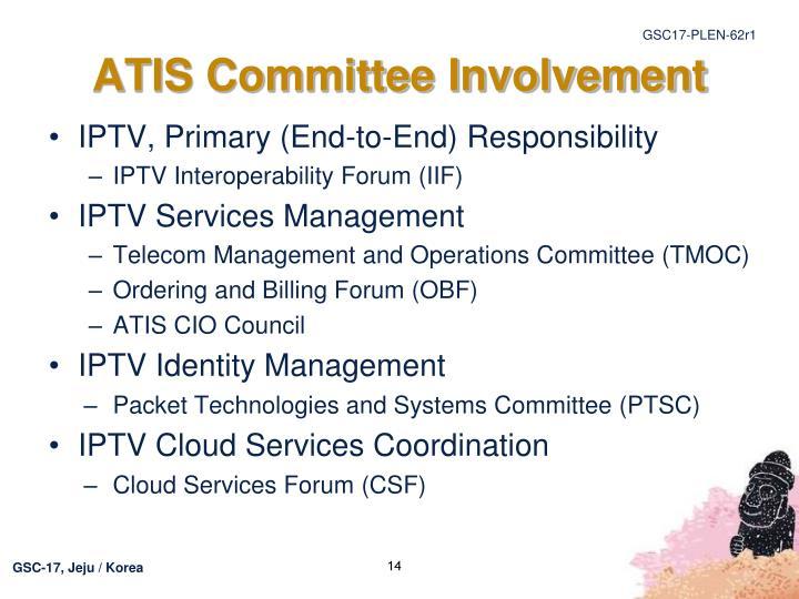 ATIS Committee Involvement