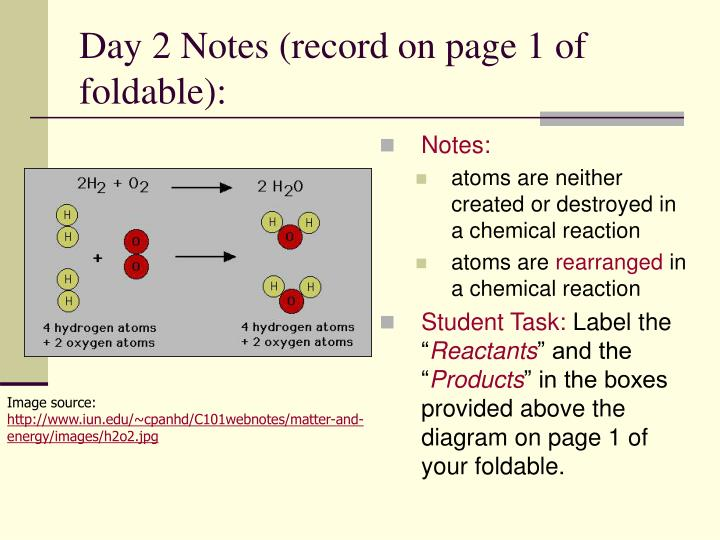 Day 2 Notes (record on page 1 of foldable):