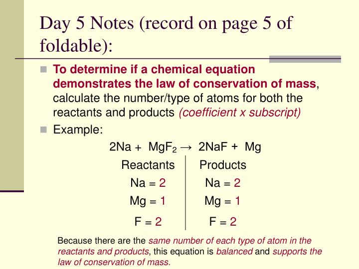 Day 5 Notes (record on page 5 of foldable):