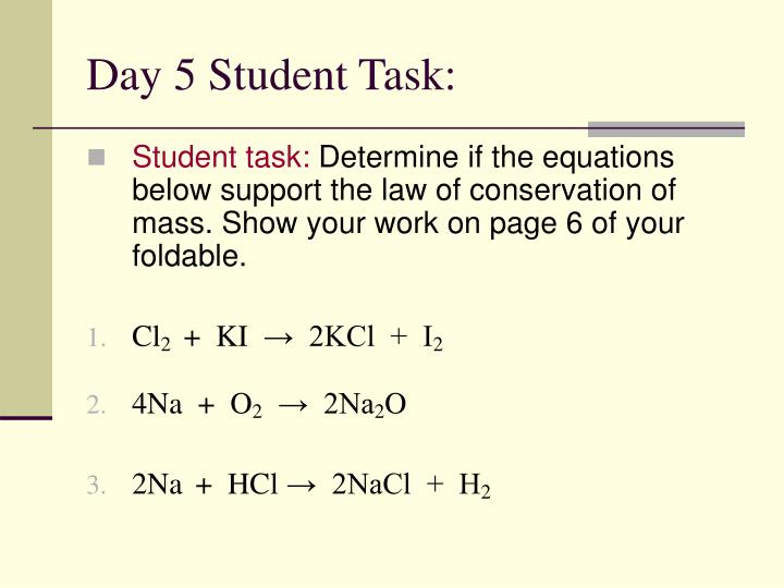 Day 5 Student Task: