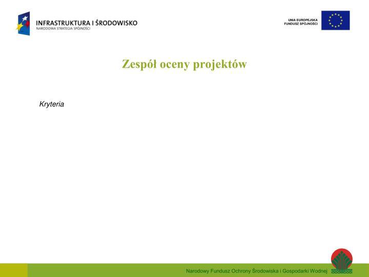 Zespół oceny projektów