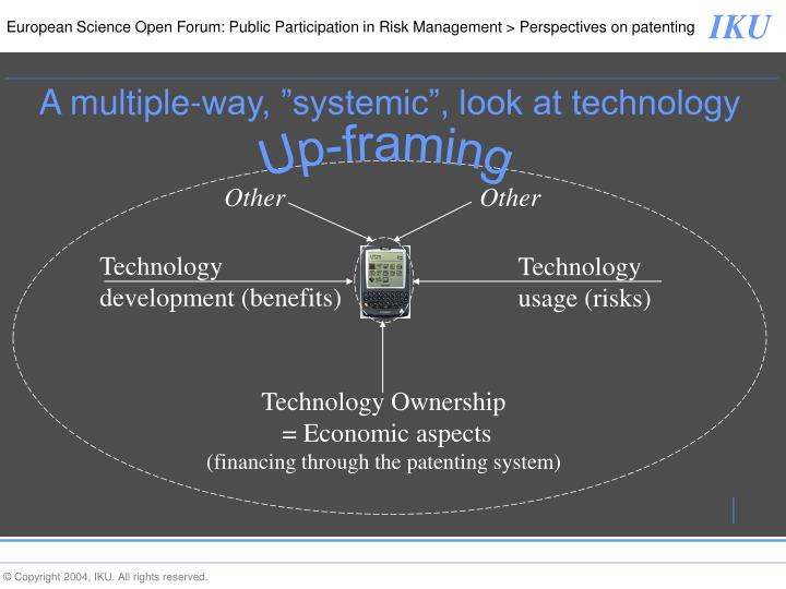 """A multiple-way, """"systemic"""", look at technology"""