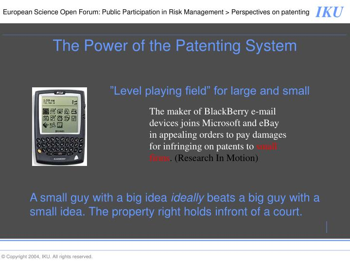 The maker of BlackBerry e-mail devices joins Microsoft and eBay in appealing orders to pay damages for infringing on patents to