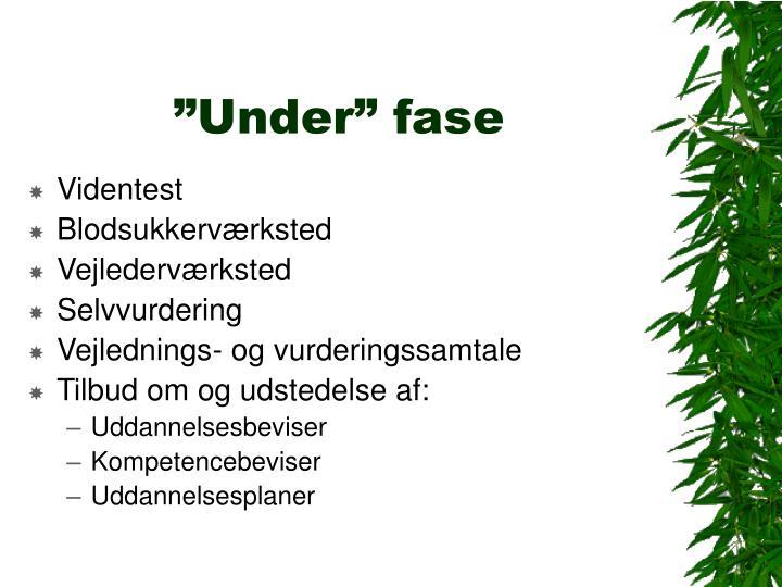 """""""Under"""" fase"""