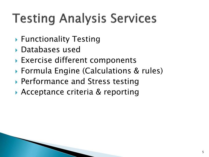 Testing Analysis Services