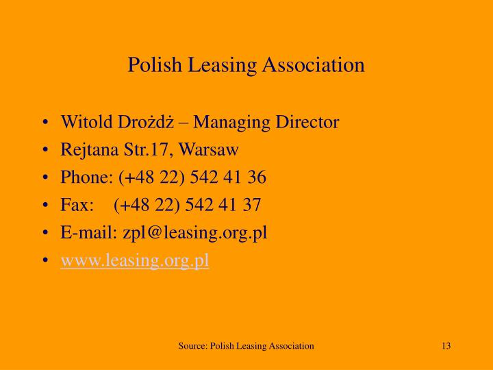 Polish Leasing Association