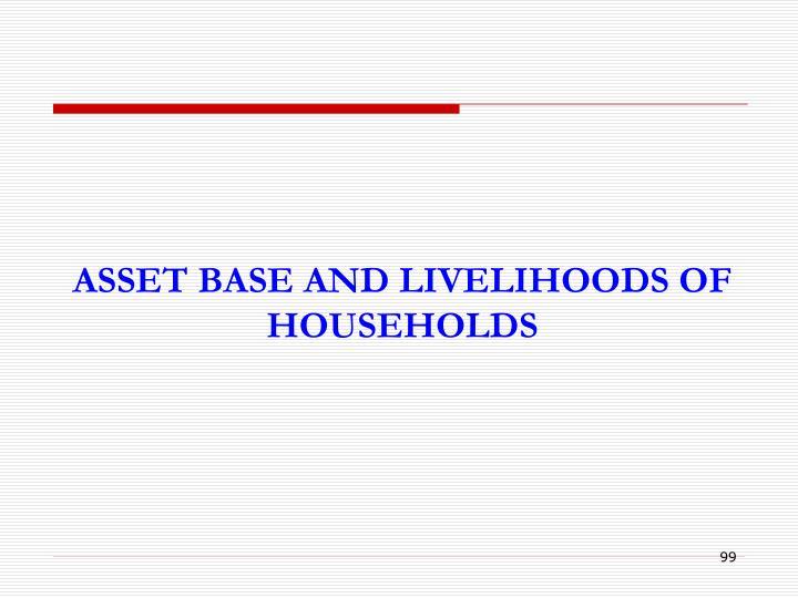 ASSET BASE AND LIVELIHOODS OF HOUSEHOLDS