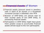 financial assets of women