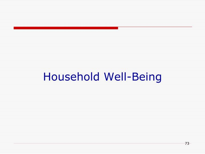 Household Well-Being