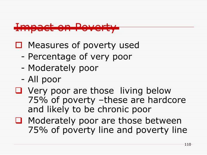 Impact on Poverty