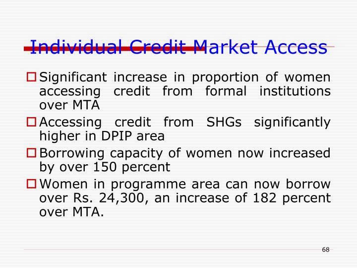 Individual Credit Market Access