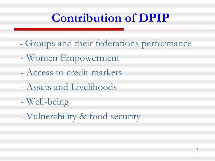 Contribution of DPIP