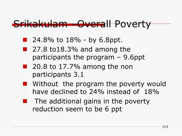Srikakulam –Overall Poverty