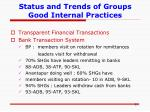 status and trends of groups good internal practices10